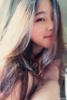长头发的清纯女神自拍照,好一个气质佳人