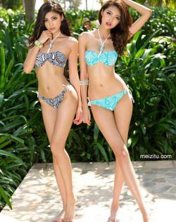孟露王祉萱长腿比基尼展示美妙身段