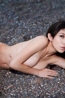 victoria欣怡石滩性感写真