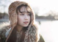 冬天里的一把火,青春阳光美女笑容暖人心窝