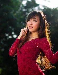 清纯的邻家女孩李倩熙,笑容真实又美丽