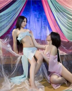 性感姐妹花组合美腿酥胸共同演绎绝色《大小乔》